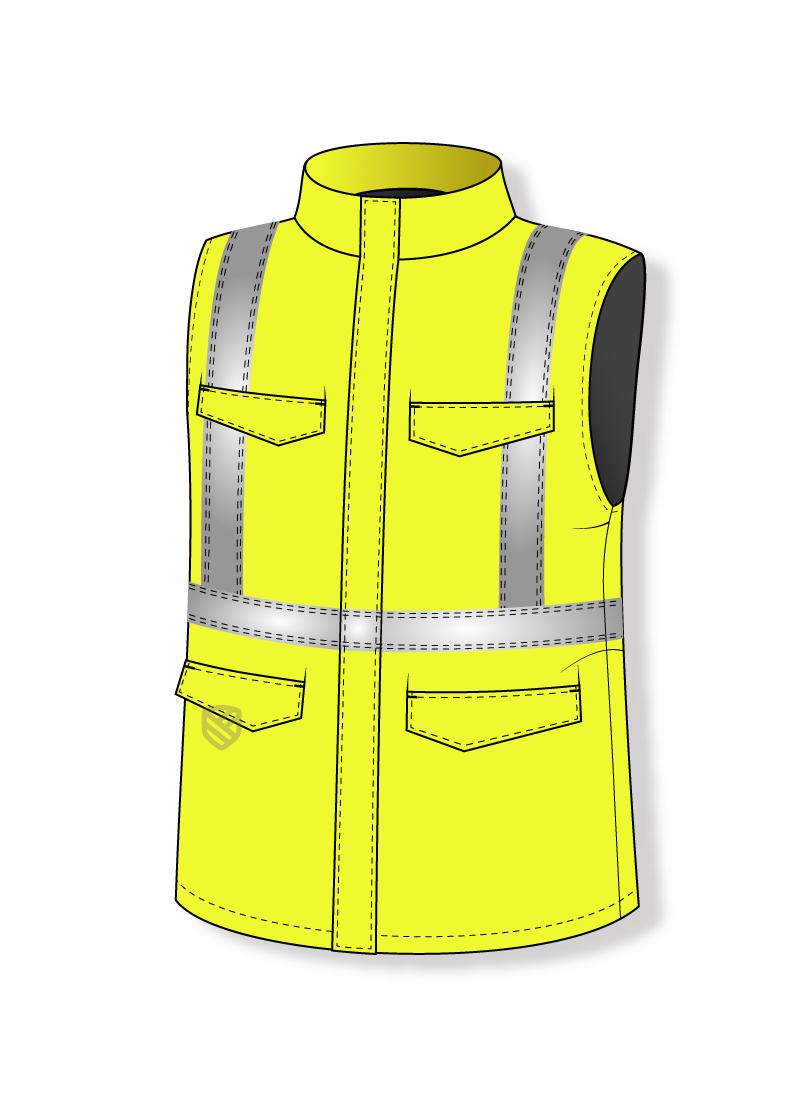 Multi-protective padded waistcoat