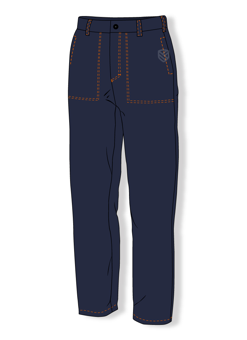 Padded flame retardant trousers for welders