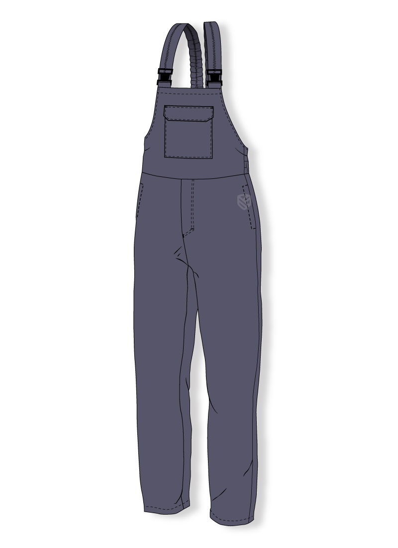 Flame retardant bib and brace trousers for welders