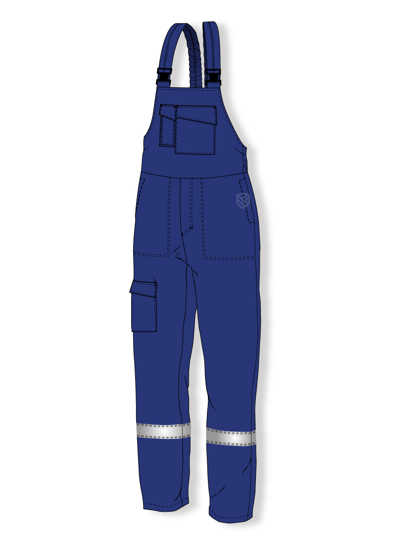 Bib and brace trousers protecting against electric arc