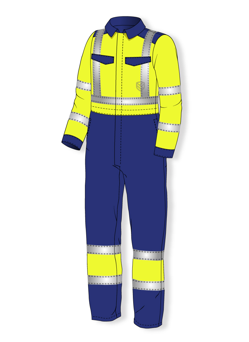 Acid resistant coverall