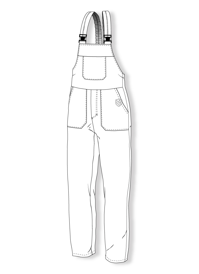Bib and brace trousers protecting against cold