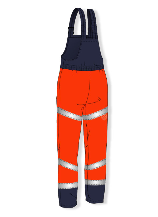 Multi-protective padded bib and brace trousers