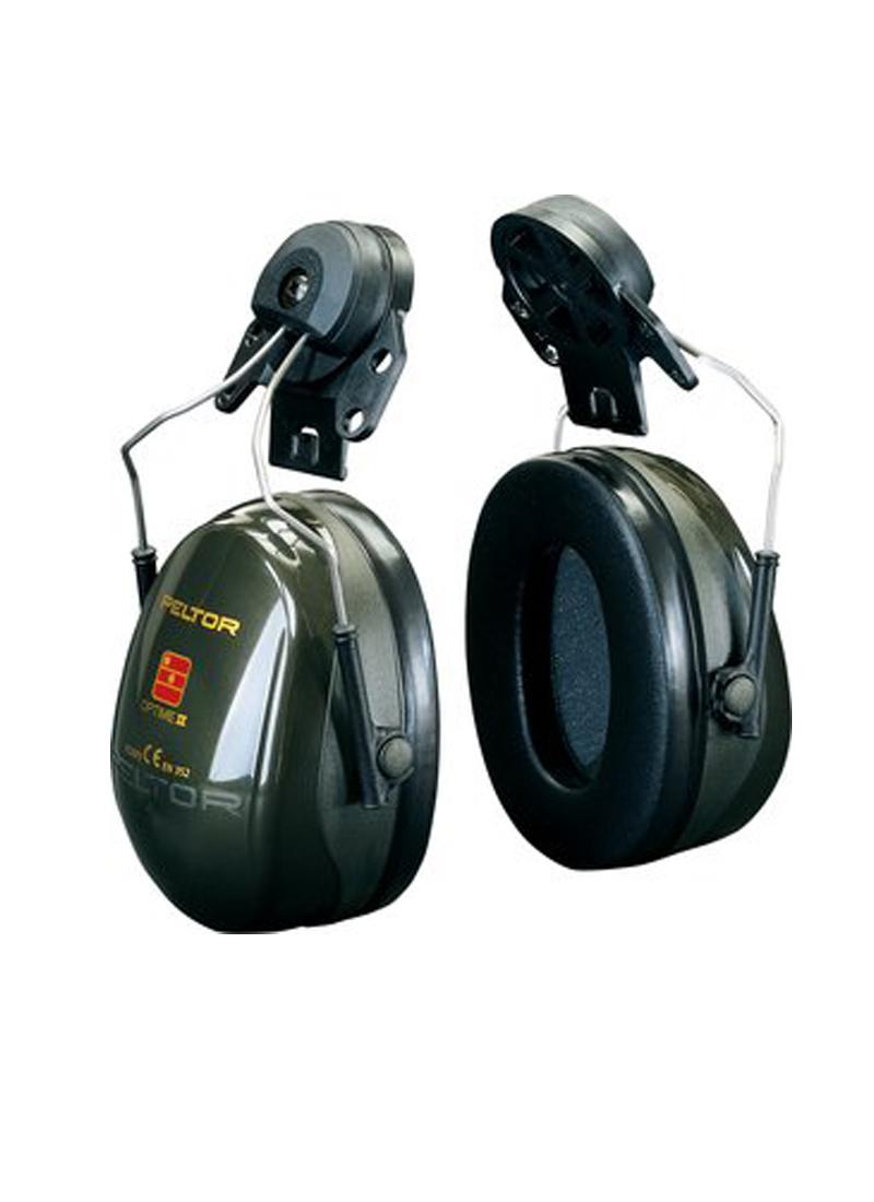 Optime II helmet ear protectors