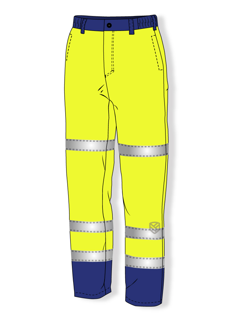 Acid resistant padded trousers