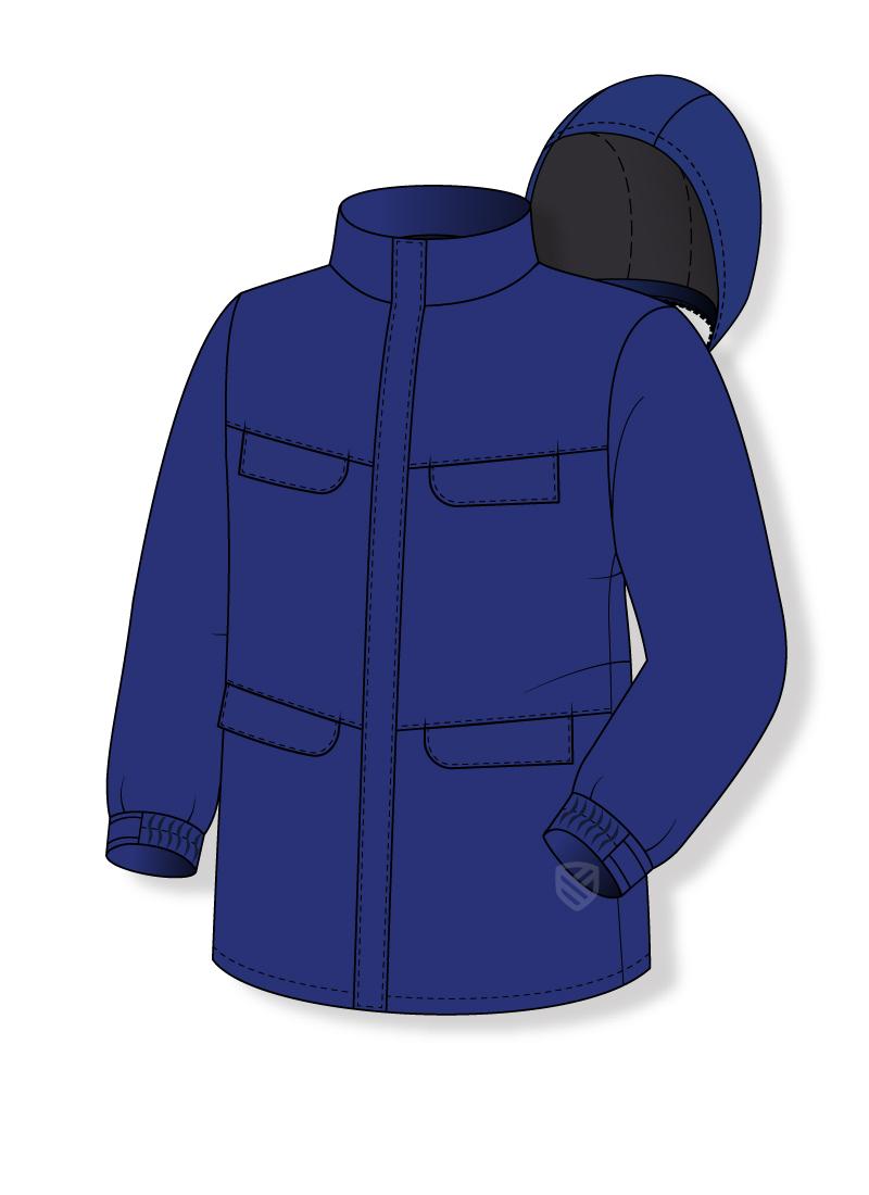 Flame retardant jacket for welders